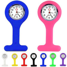 NURSES FOB WATCH SILICONE BROOCH PIN QUARTZ BATTERY INCLUDED - Buy 3 Get 1 Free!