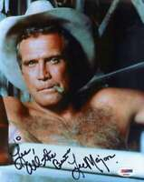 Lee Majors Psa Dna Coa Autograph 8x10 Photo Hand Signed