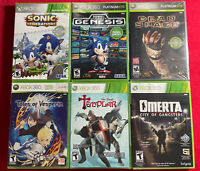Xbox 360 Brand New Game Lot Of 6 Great Titles In Mint Condition Dead Space Sonic