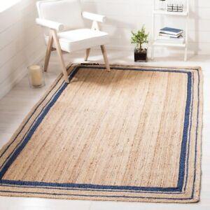 Rug 100% Natural Jute Braided handmade Reversible Runner Rug Area carpet rag rug