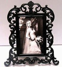 """Black Baroque"" Elegant 2""X3"" Photo Picture Frame OR Place Card Holder"