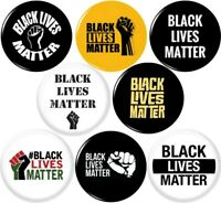 BLACK LIVES MATTER  8 NEW 1 Inch (25mm) Pinback Buttons Badges Pins BLM power