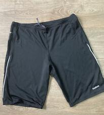 Reebok Mens 2XL - Black Gym Shorts Zip Pocket Play Dry Cycling Running