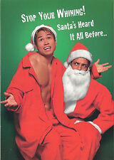 Gay Lesbian LGBT Holiday Cards G-Gallery Santa Gay Asian Santa's heard it all