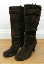 Stunning Brown Suede Leather Boots Size 3