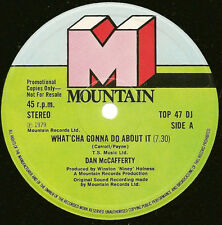 """Dan McCafferty - What'Cha Gonna Do About It / Boots Of Spanish Leather 12"""" PROMO"""