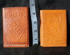 2 Vintage Leather wallets.  1 made in Mexico and 1 made  in Morroco.