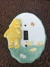 Winnie the Pooh Classic  Light Switch Cover Disney Ceramic Charpente Oval HTF
