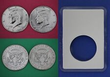 1991 P D Kennedy Half Dollars With DIY Slabs from Mint Set Flat Rate Shipping