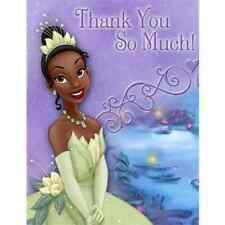 Princess and the Frog Disney Tiana Kids Birthday Party Thank You Notes Cards