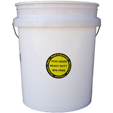 Encore Plastics 5-Gallon Commercial Food Grade BPA Free Bucket FDA-Approved, NEW