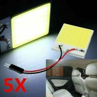 5Pcs 48SMD COB White Panel LED T10 Car Interior Panel Light 12V Dome Lamp Bulbs