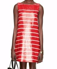 NWT KATE SPADE Sleeveless Sequin Red Pink Stripe Dress Prom - size 6