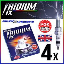 4 x NGK BR9HIX IRIDIUM IX SPARK PLUGS - KAWASAKI S2, S2A Mach II 350 (72–>73)