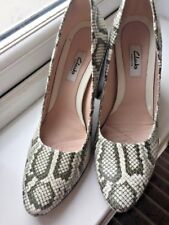 CLARKS NARRATIVE SNAKESKIN STYLE HEELS COURT WEDDING GOING OUT SHOES SIZE 6 D ♡