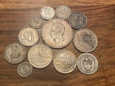T2: Lot of Silver World Coins: Philippines Ecuador Panama G.B. France & More