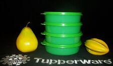 Tupperware 4 NEW Medium Wonders 12oz salad cereal lunchbox Bowls ~GREEN
