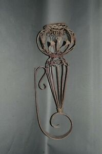 Blumenkorb  Metall Blumenampel Wandkorb  Landhaus chabby Fackel 60 cm