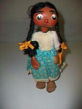 """Vintage Black Americana Paper Mache Doll 10 1/2"""" Papier Mache"""