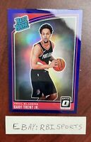 2018-19 Panini Optic Rookie Rated Gary Trent Jr Purple Prizm Rc #199 NBA Blazers