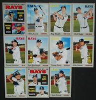 2019 Topps Heritage Tampa Bay Rays Base Team Set 11 Baseball Cards Brandon Lowe
