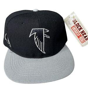 New Vintage 90s Atlanta Falcons NFL Blockhead Fiber Optic Snapback Hat Cap
