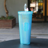 2020 Starbucks China Baby Blue Studded Cute Rabbit Topper Cold Water Cup Tumbler