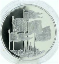 5 Pounds  Elizabeth II Queen's 70th Birthday Silver 925 pp