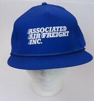 Vtg Blue Associated Air Freight Snapback Hat Cap