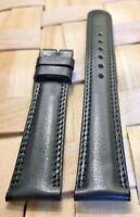 Original Genuine MOVADO 18mm Black Calf Skin Watch Strap Band Brand Retail $90