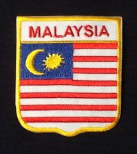 MALAYSIA MALAYSIAN NATIONAL COUNTRY FLAG BADGE IRON SEW ON PATCH CREST SHIELD
