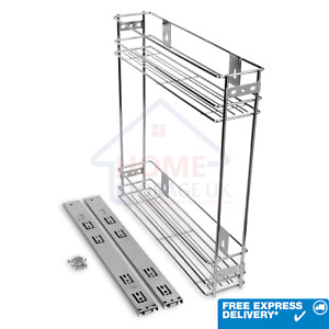 PULL OUT WIRE BASKET SIDE PULL OUT BASE DRAWER UNIT CUPBOARD STORAGE DRAWERS