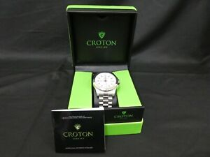 CROTON 5ATM MENS WATCH CN307209 All Stainless Steel