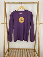 Life Is Good Women's Circle Logo Classic Fit Long Sleeve Shirt Size L