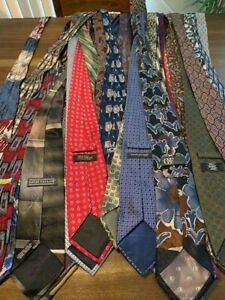 Silk Ties Great for Crafts Quilts and More Lot of 200