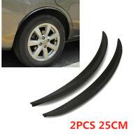 2PCS Carbon Fiber Car Wheel Eyebrow Arch Trim Lips Strip Fender Car Accessories