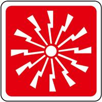Adesivo segnaletica SIRENA ANTINCENDIO 120x120 mm