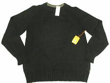 $89 NWT NEW Mens Quiksilver Pipes Cotton Wool Blend Sweater Black Size XL M598