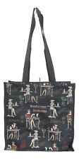 Elegant Lady on Black design Multi-coloured Tapestry Tote Shopper Bag  Signare