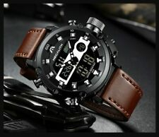 MEGALITH Men's Sport ANALOG Luminous Dual display Quartz Watch Multifunction