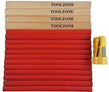 Toolzone Carpenters Pencils & Sharpener Set 17pce Woodwork Timber pencil marking