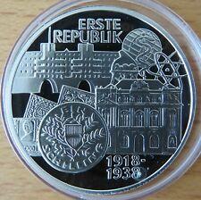 Österreich 100 Schilling 1995, Erste Republik, Silber-Münze, polierte Platte