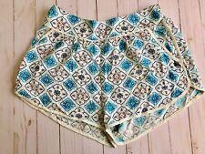 Roxy Diamond Sky Shorts Pockets Back Elastic Waistband Size Medium NWT MRSP $34