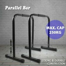 New listing Parallel Bar Dip Station Bars Home Parallettes Strength Workout Fitness Set Gym