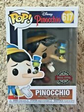 FUNKO POP! PINOCCHIO WITH JIMINY CRICKET EXCLUSIVE DISNEY #617 SPECIAL JIMMY