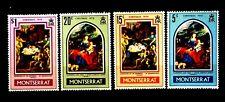 SELLOS NAVIDAD MONTSERRAT 1970 244/47 6v.