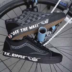 NIB Vans X SE Racing  P.K. Ripper Bike Shoes Mens 11 Black BMX quadangle