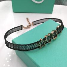 Cute Teddy Bear Necklace Black Mesh Collar Woman Jewelry Fashion