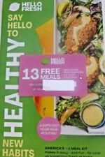 Hello Fresh 13 Bonus Meals (valued at $117) New Customer with Auto Renewal Order