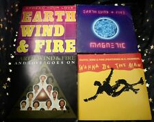 EARTH WIND & FIRE * 4 Sgl. ua. AND LOVE GOES ON * WANNA BE THE MAN *MAGNETIC